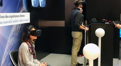 Stand découverte de la réalité virtuelle