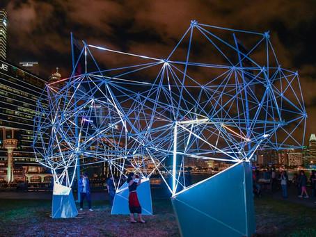 Festival iLight Marina Bay : Une somptueuse structure lumineuse imprimée en 3D !