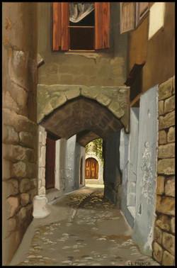 Ruelle à Rhodes, Path in Rhodos, (Grèce, Greece),