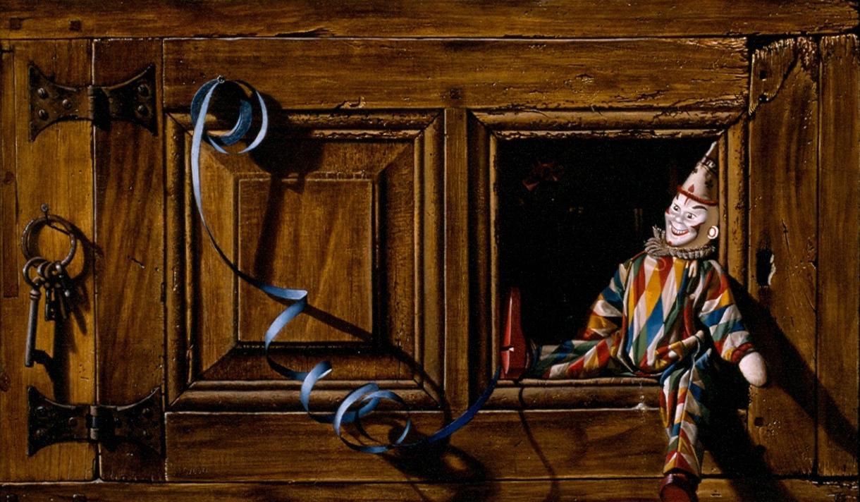 Gilou, Arlequin aux clefs - 33x55