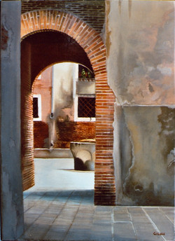 Gilou, Cour au puits à Venise