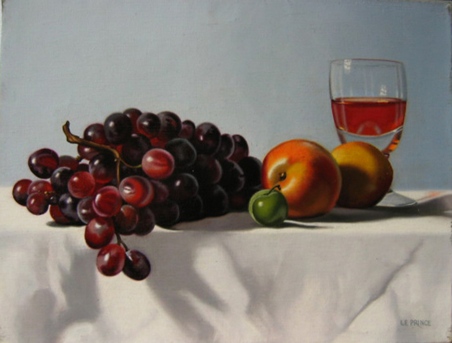 -h_t,Raisins et nectarines, Grapes and nectarines, (o_c).27 x 35 cm. JPG.