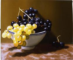 Bol de raisins. Grapes bowl.