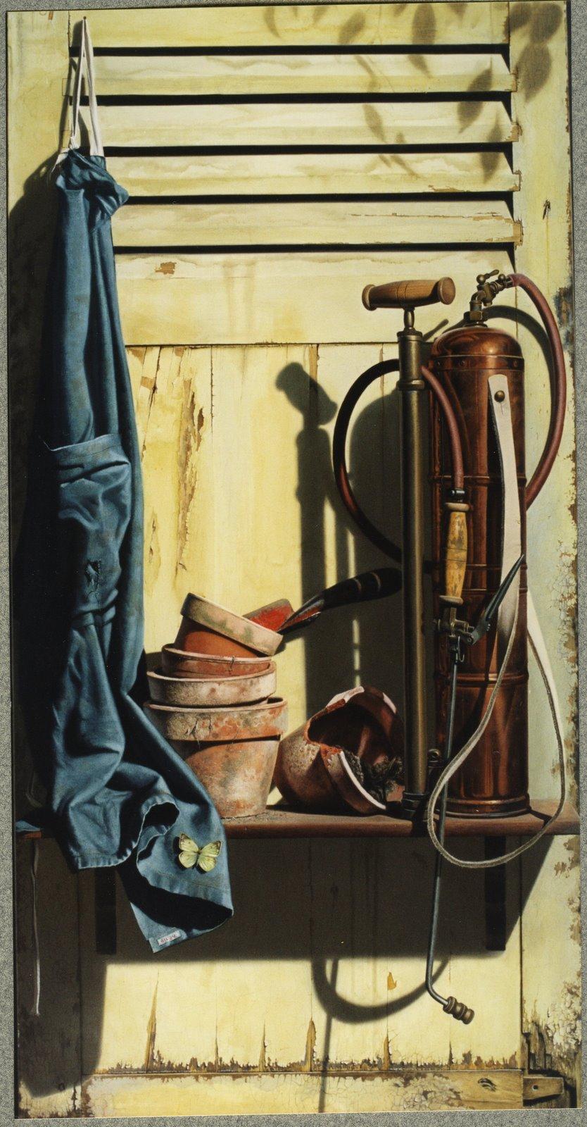 Gilou, Volet de jardin - 134,5 x64,5