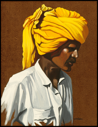 L'homme au turban d'or, the man with a golded turban,