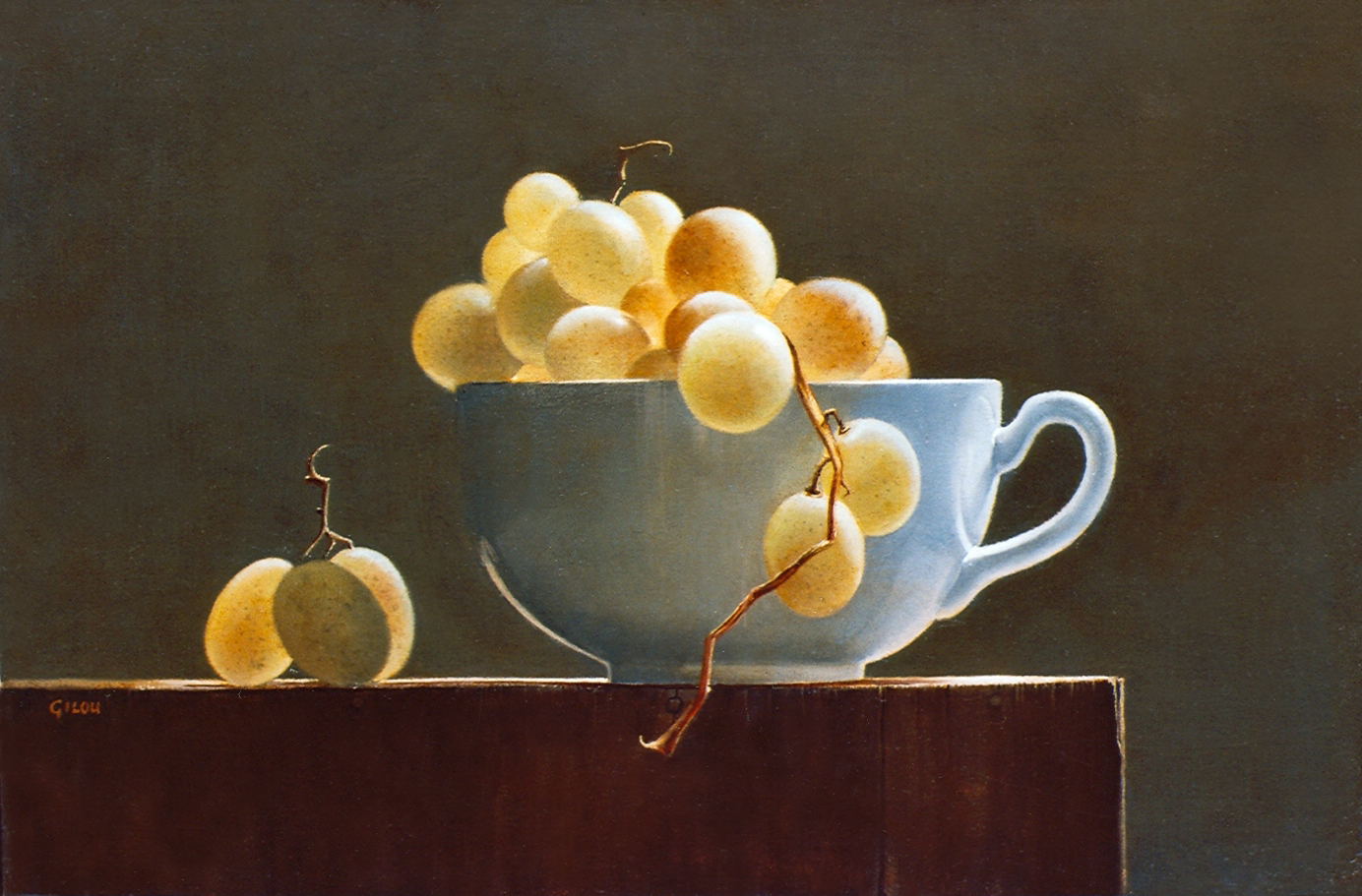 Gilou, Tasse blanche aux raisins blancs