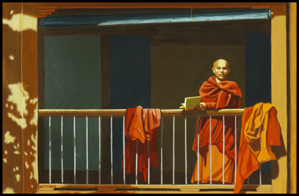 Bonze au balcon, Monk at the balcony