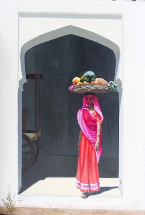 Femme fruits. Fruits woman.