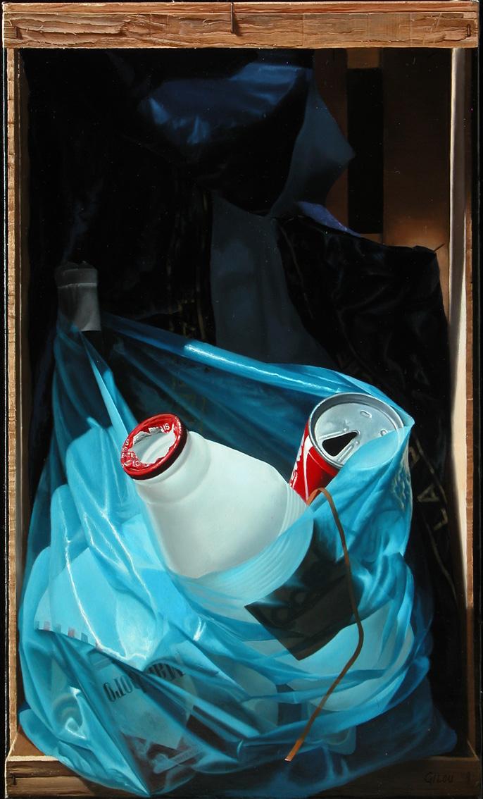 Cageot au sac bleu