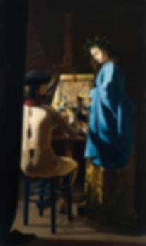 Gilou, La Rose, le peintre et son modèle