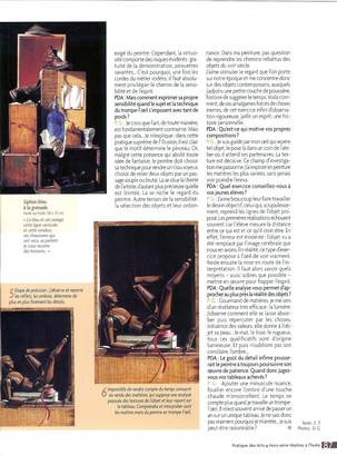 Article Pratique des Arts (novembre 2005