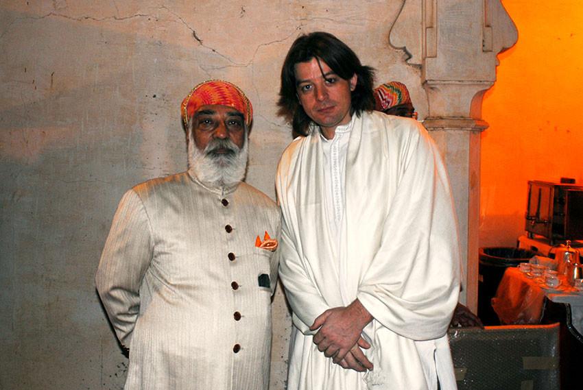 Arvind Singh Mewar Maharaja d'Udaipur & Joël Cadiou