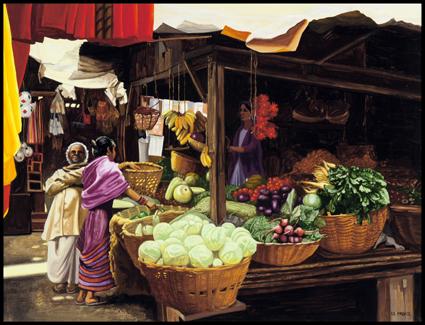 Marché à Darjeeling, Market