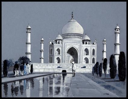 - Encre,ink, Le Taj Mahal, 25 x 32, 5 cm