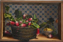 Panier aux radis. Radish Basket.