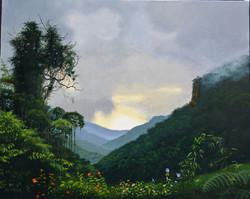 Mousson sur la jungle.
