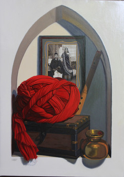 Le turban rouge. Red turban.