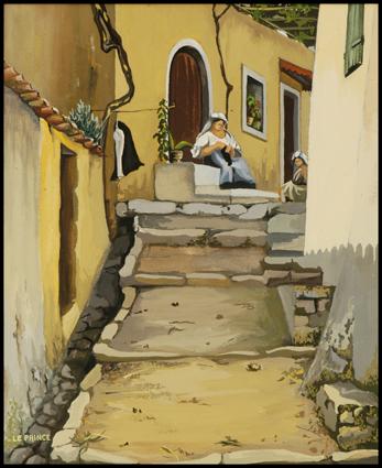 Ruelle à Corfou, Path in Corfu,