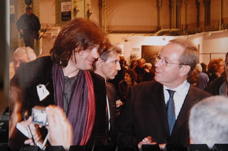 Grand-Palais, vernissage, Art en Capital avec le ministre de la Culture Renaud Donnedieu de Vabres