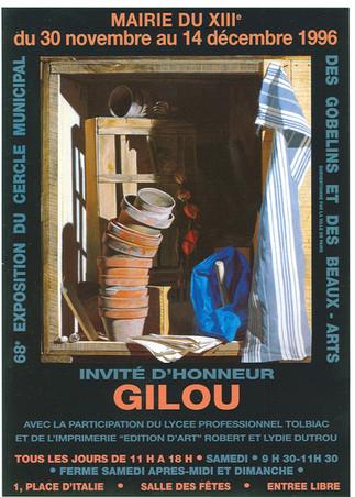 Affiche Mairie du XIII invité GILOU