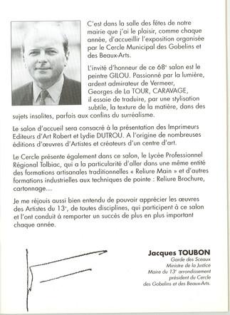 Intro Catalogue Cercle des Gobelins 1996