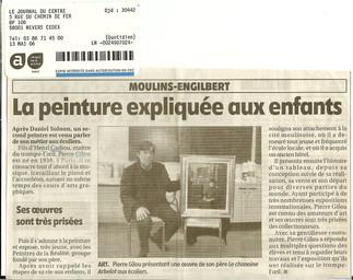 Pierre GILOU présentant le Chanoine Arbe