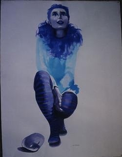 Clown bleu. Blue clown.