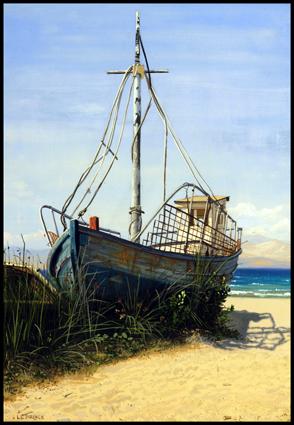 Barque échouée à Corfou.