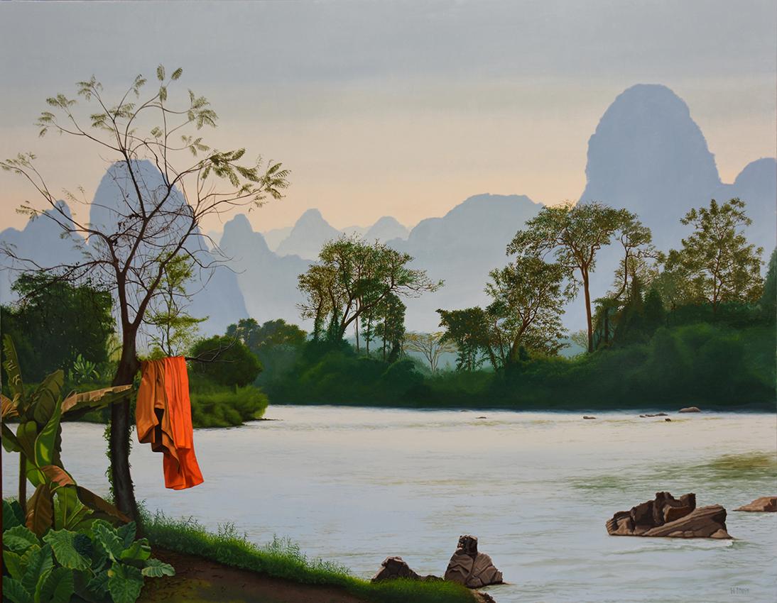 -h_t,Harmonie_Laotienne_en_camaïeu_de_bleus_et_de_verts_Laos_harmonize_in_blue_and_green,_114_x_146_