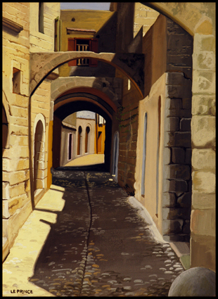 Rue à Rhodes, Street in Rhodos.