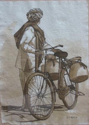 L'homme à la bicyclette.
