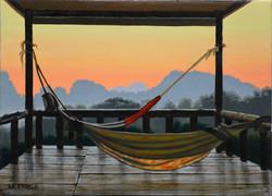 Les 2 hamacs. The 2 hammocks. Laos