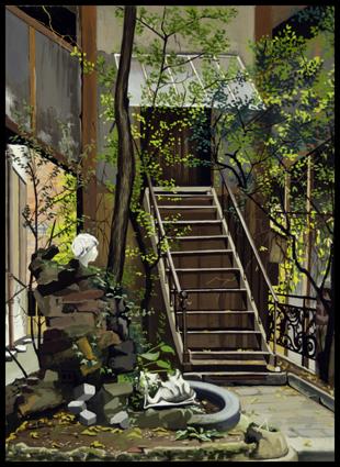 Atelier, rue d'Arsonval.