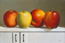 Étagère aux 4 pommes
