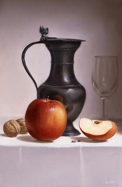 Pot d'étain aux pommes