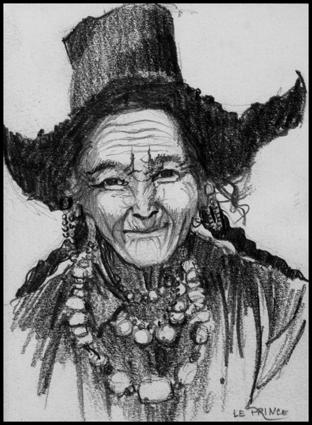 Femme Ladakhi.