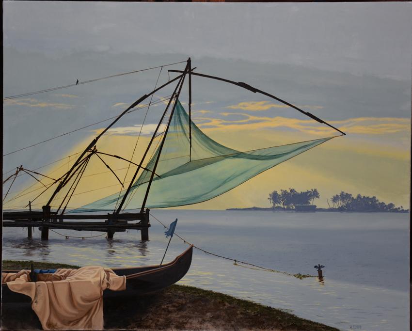 -h_t,Repos à la tombée du jour, 81 x 100 cm
