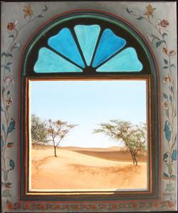 Lumière turquoise dans le désert du