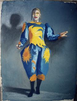 Adrienne clown poète. Poet clown.