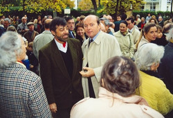 Gilou & Jacques Toubon, Maire du 13e