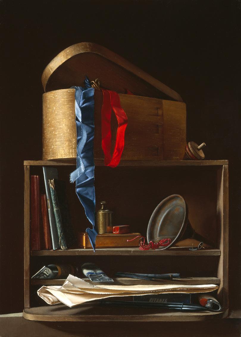 La petite étagère à la boite de rubans