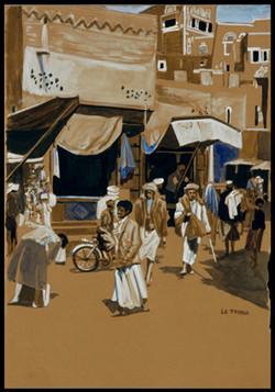 Au bazar. To the bazar. Yémen.