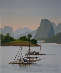 Sur la rivière Nam Ou, Laos.