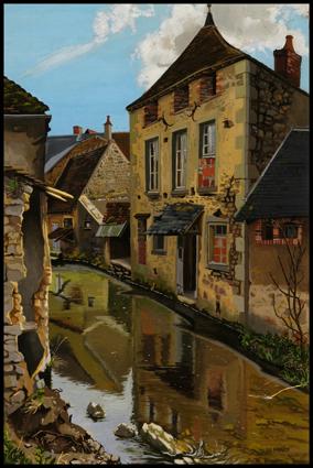 Bord de rivière à Moulins-Engilbert