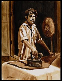 Le repasseur. The iron man.