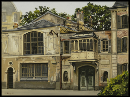 - Gouache, Atelier de Bartholdi,Bartholdi studio, 25 x 32,5 cm