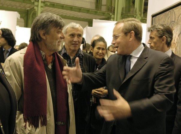 Gilou et le Ministre Renaud Donnedieu de vabres
