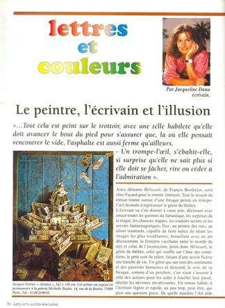 Arts actualités magazine P1