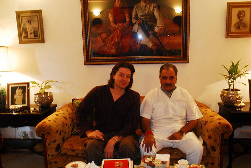Gaj Singh Maharaja de Jodhpur & Joël Cadiou