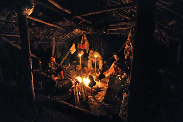 Nagaland  - Campement de nuit